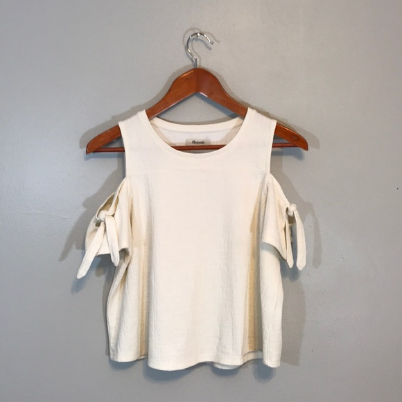 e4928628499c6 Madewell Tops - Madewell Skylark Cold-Shoulder Tee in off-white